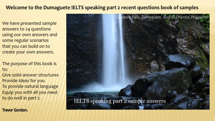 IELTS speaking parts 1 and 2 sample books